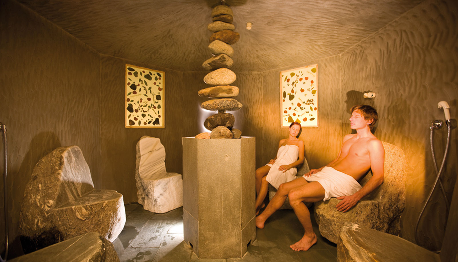Stone sauna at Arosea Life Balance Hotel in Ultental-Val d'Ultimo